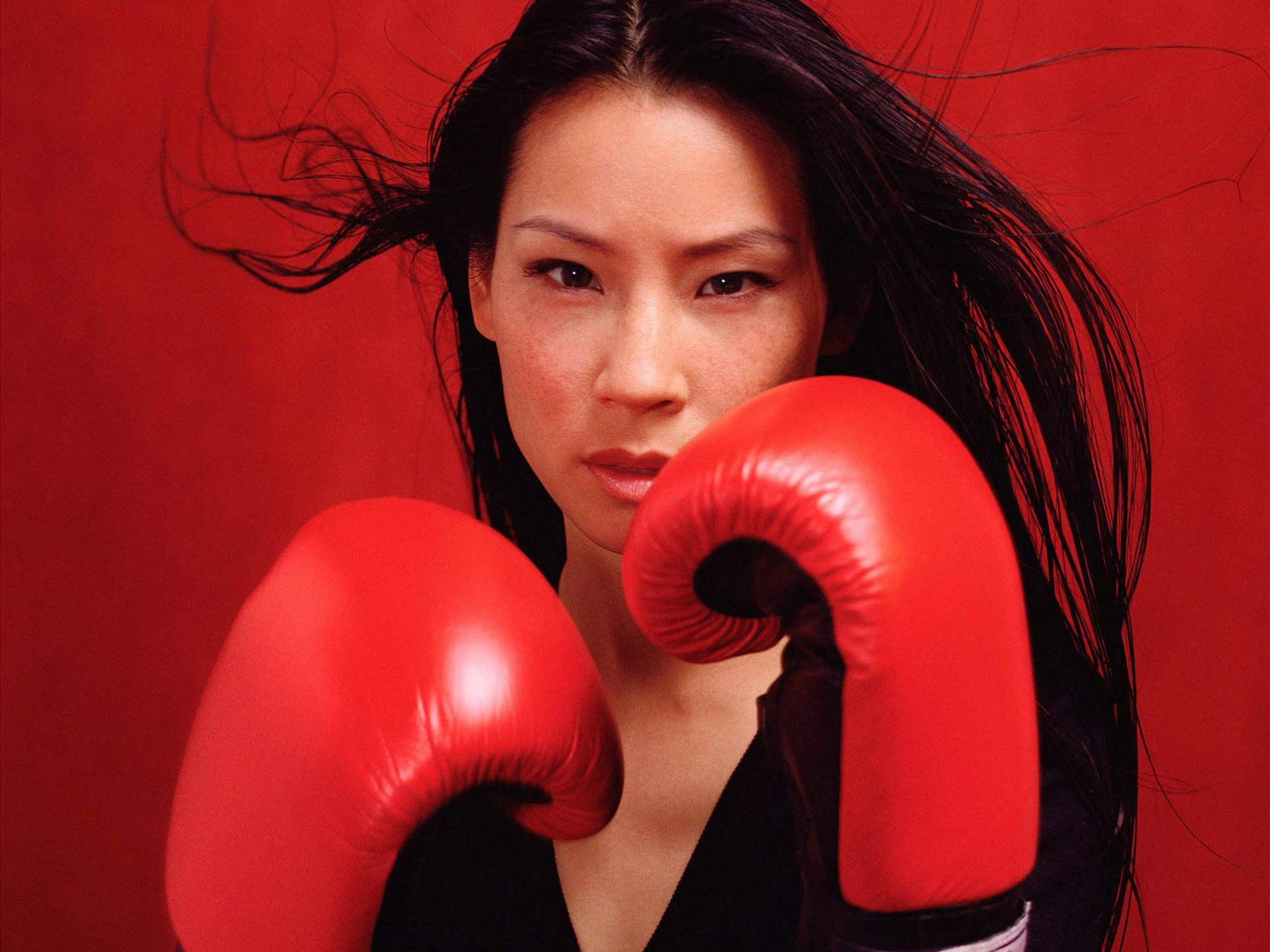 Люси Ли, фото, бокс, боксерские перчатки