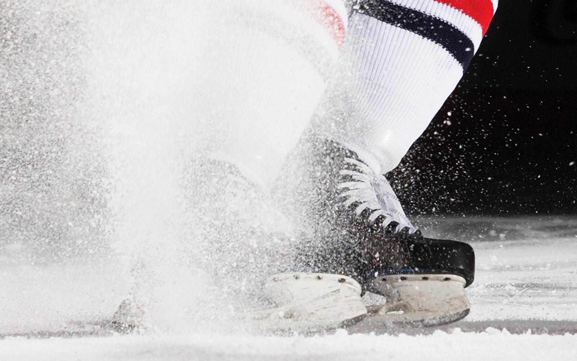 хоккей, коньки лед, скачать фото