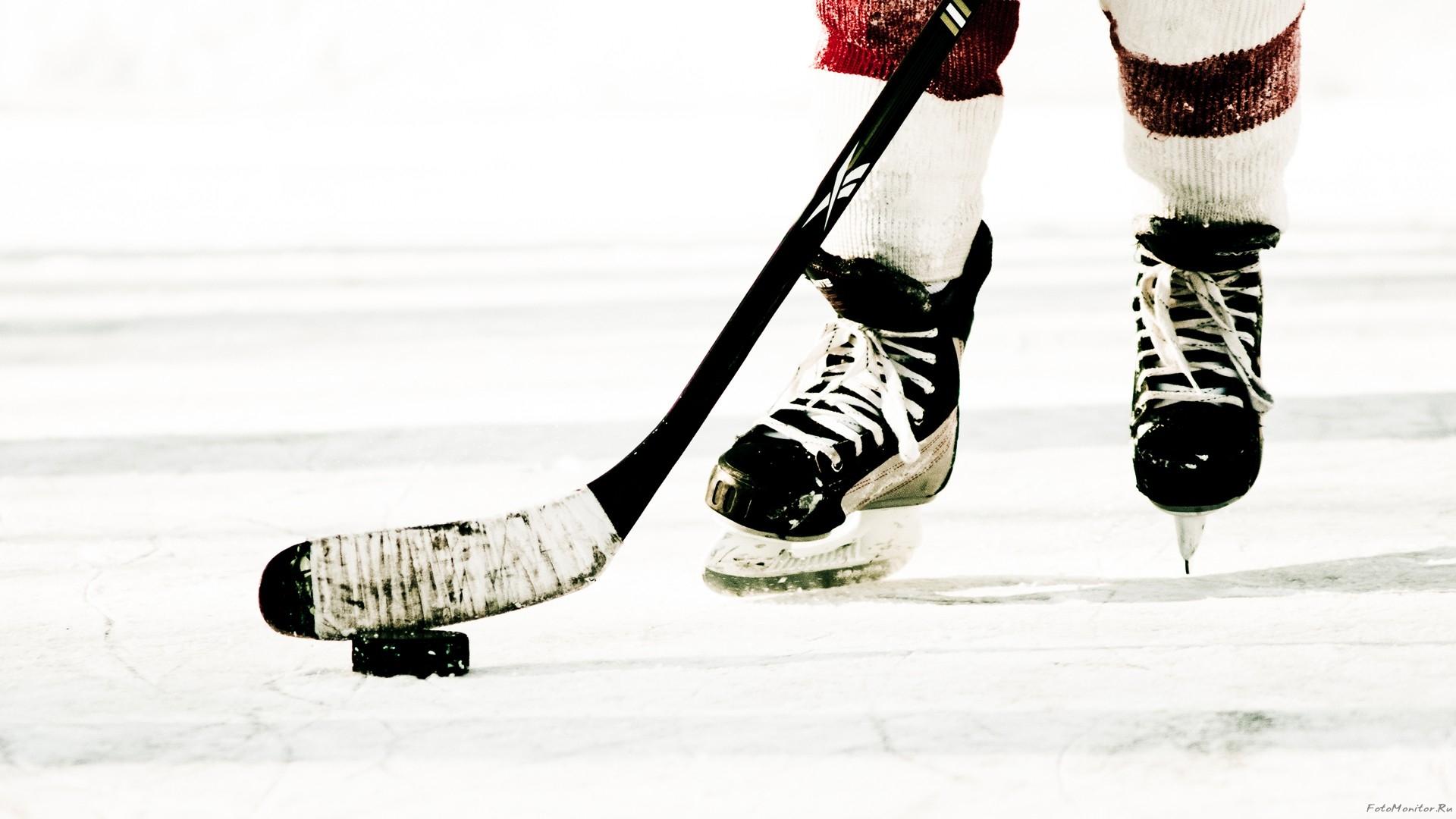 хоккей, фото, шайба, коньки, клюшка