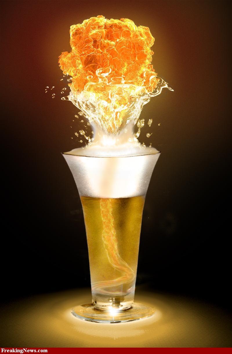 брызги пива, фото, обои, пиво