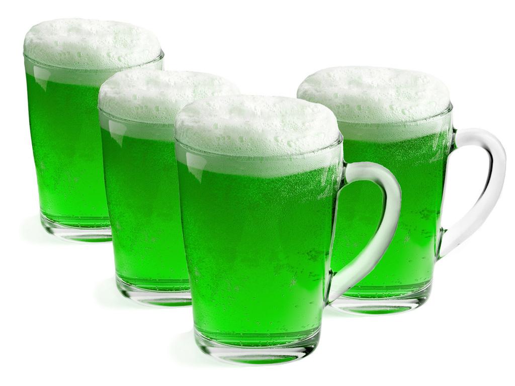 зеленое пиво в кружках, фото, скачать