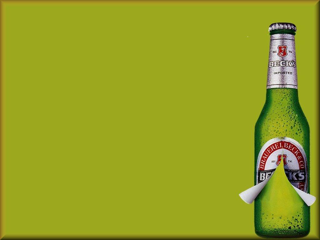 зеленые обои для рабочего стола, фото, бутылка пива, пиво