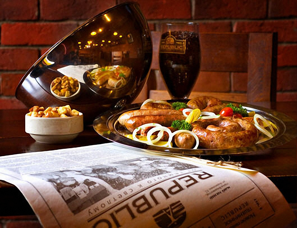 газета и пиво с закуской, фото, скачать обои на рабочий стол