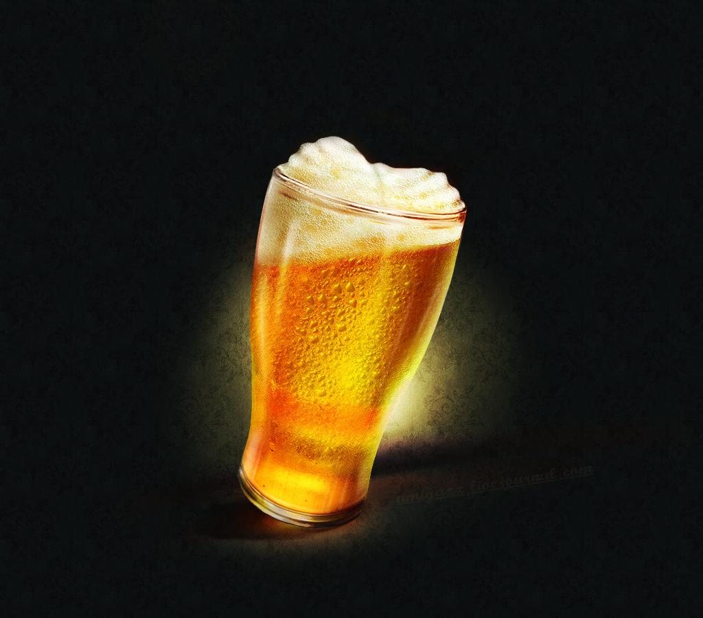 стакан пива, скачать фото, обои для рабочего стола
