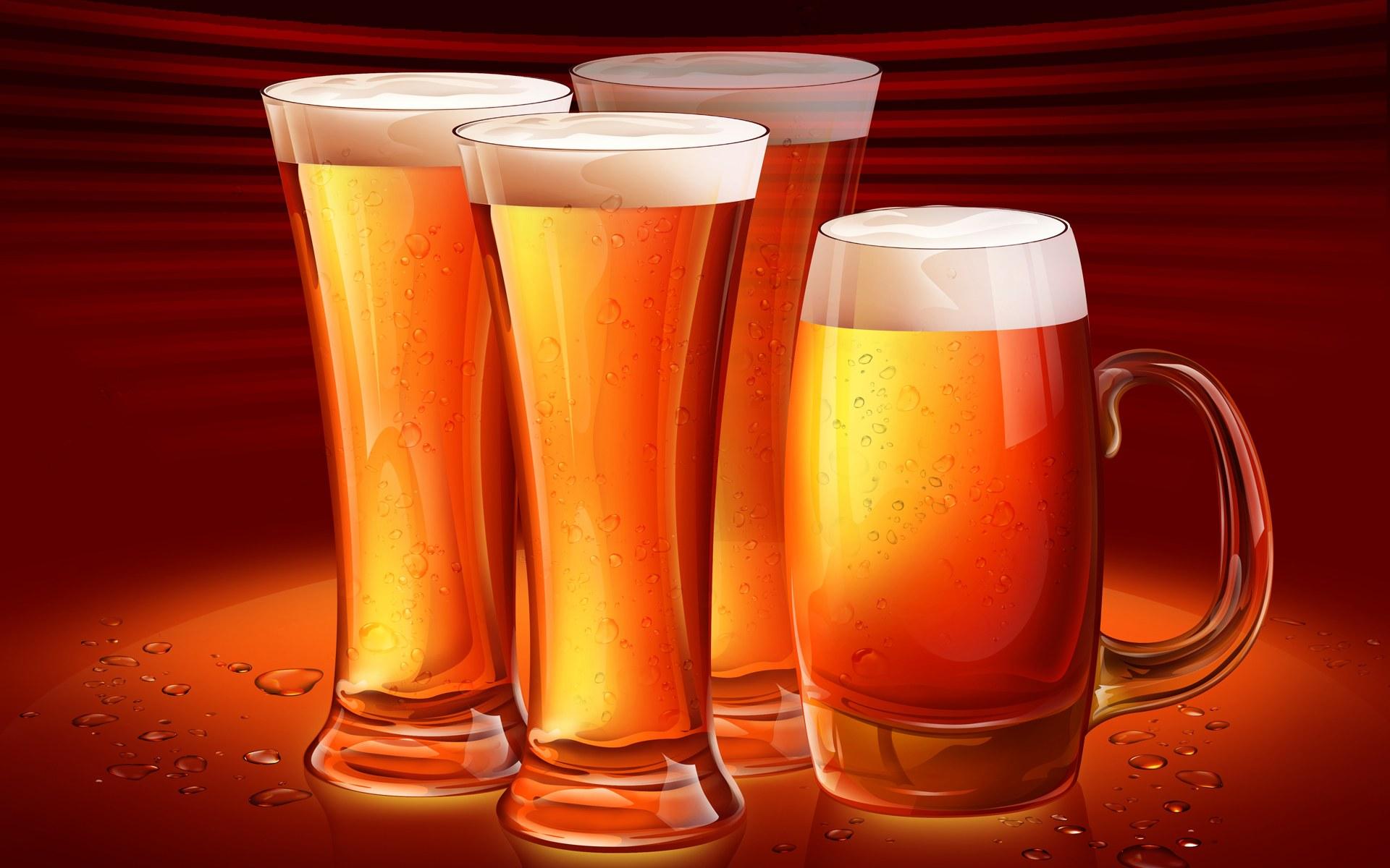 пиво кружки, скачать фото, обои для рабочего стола, бесплатно