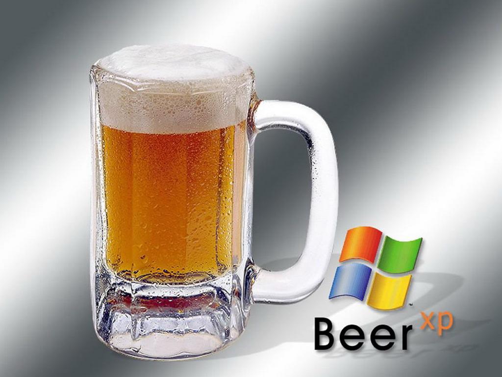windows beer, wallpaper, пиво, обои для рабочего стола