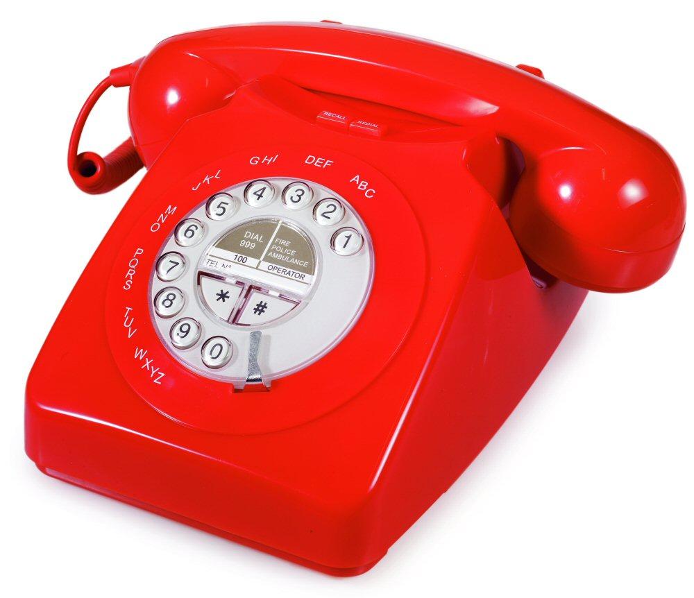 красный телефон, скачать фото