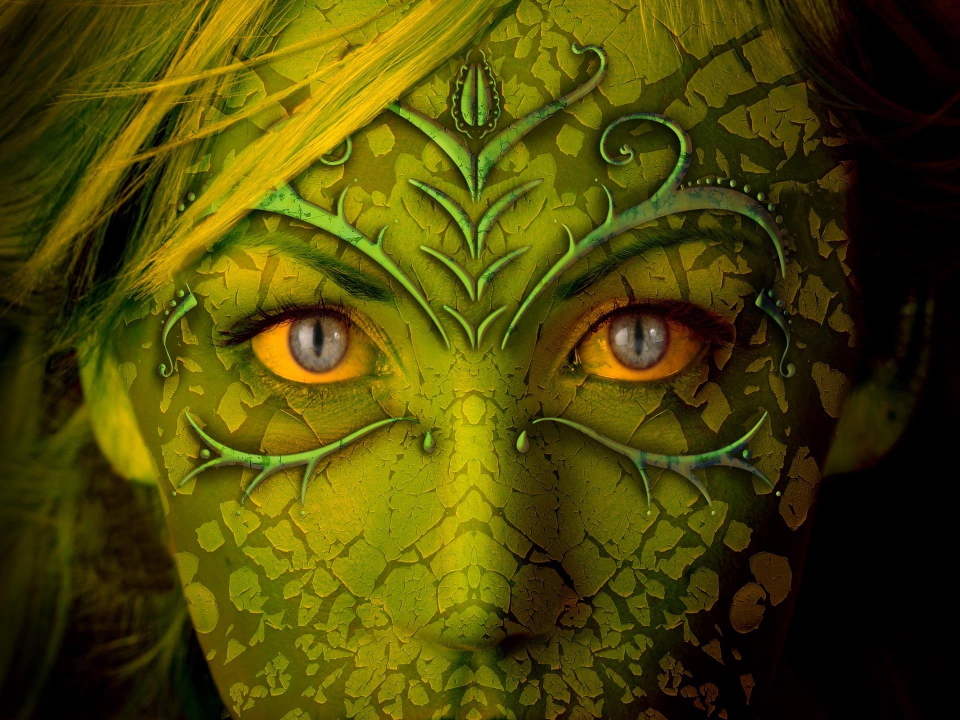 Лицо, змея, маска, фото, обои для рабочего стола