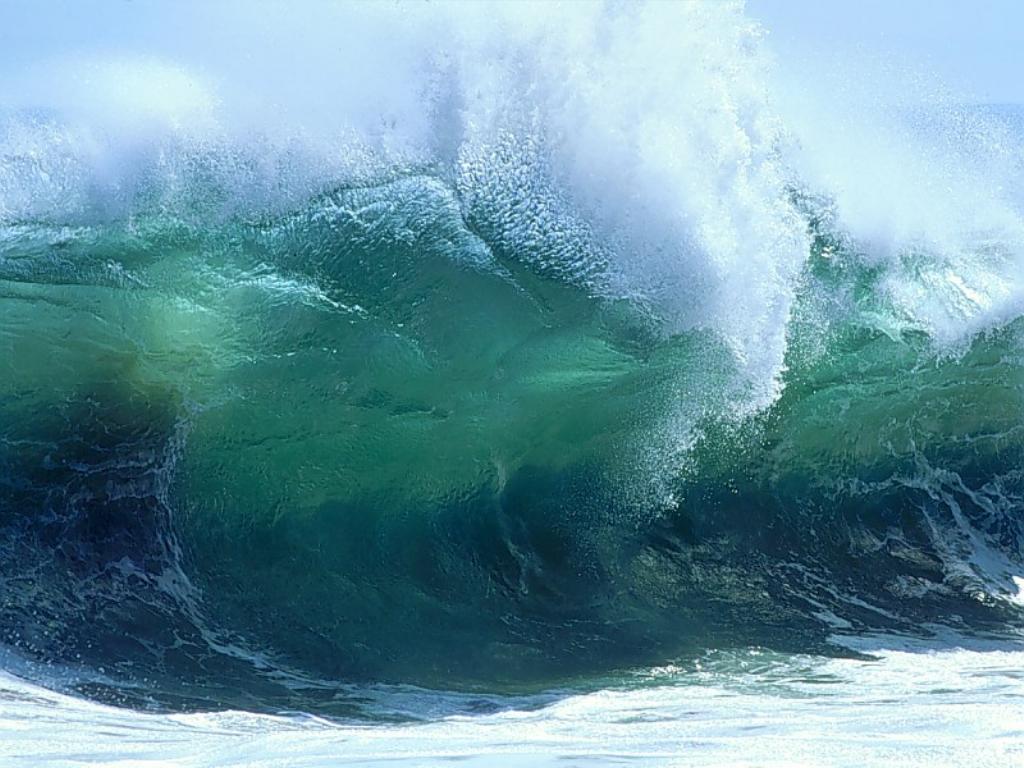 волна море, фото, обои для рабочего стола