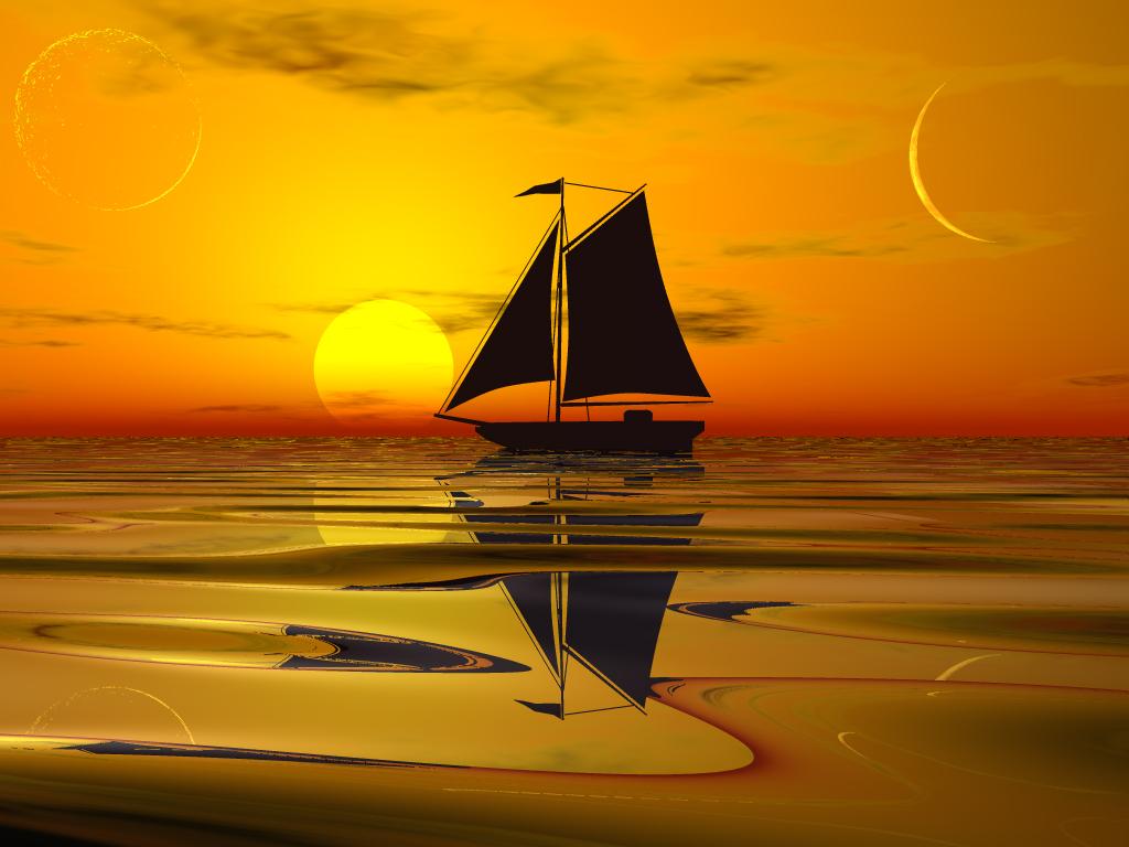 корабль, фото, закат, море, скачать, обои на рабочий стол