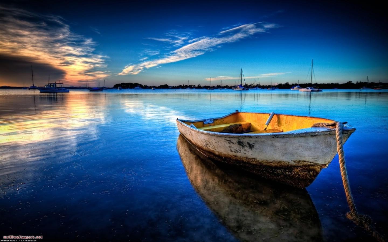 море лодка, скачать фото, обои для рабочего стола