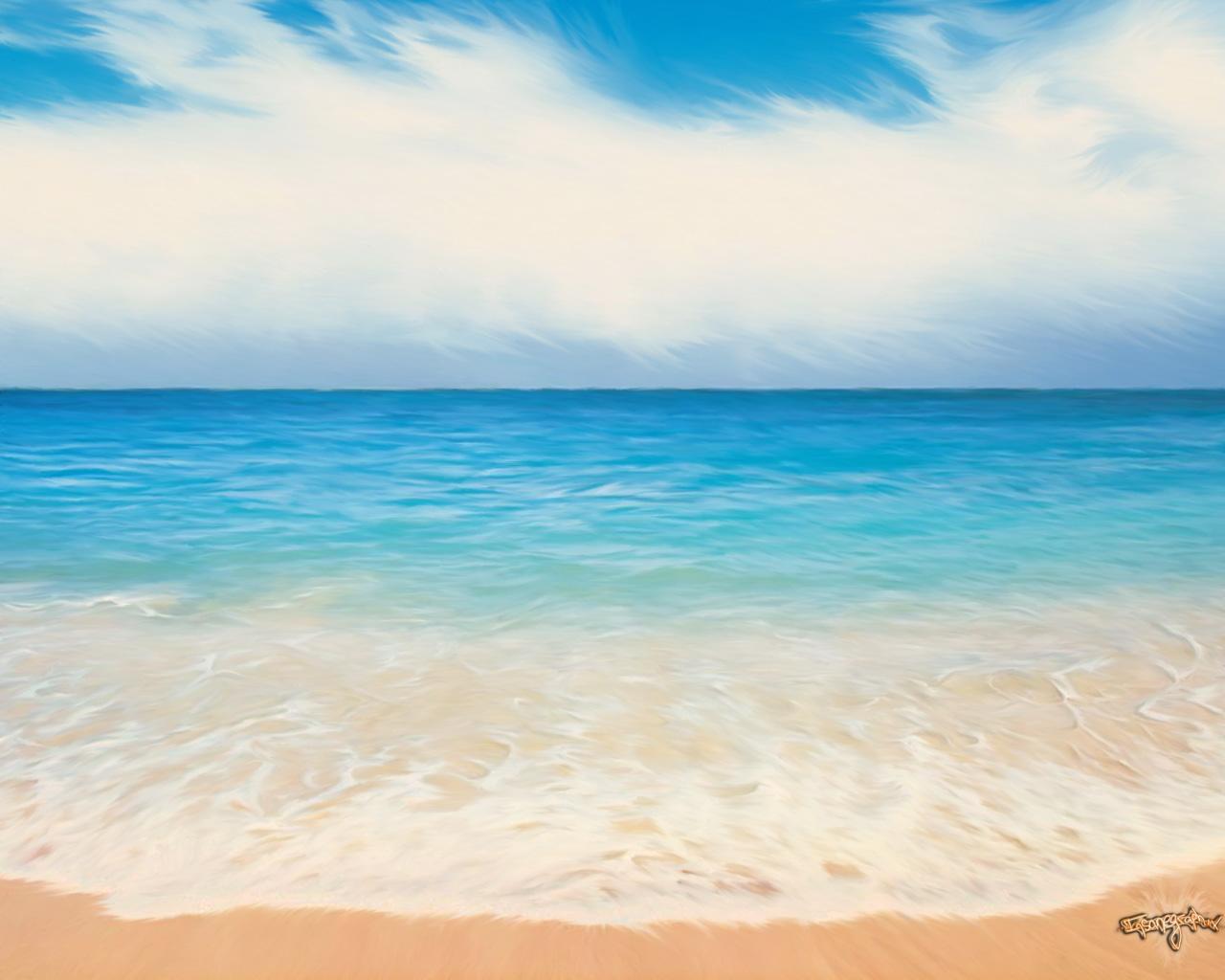 волна песок, пляж, скачать фото для рабочего стола