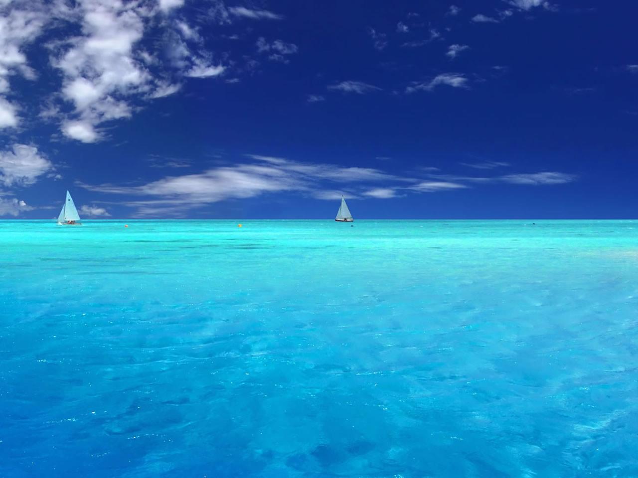 море горизонт, скачать фото, обои для рабочего стола
