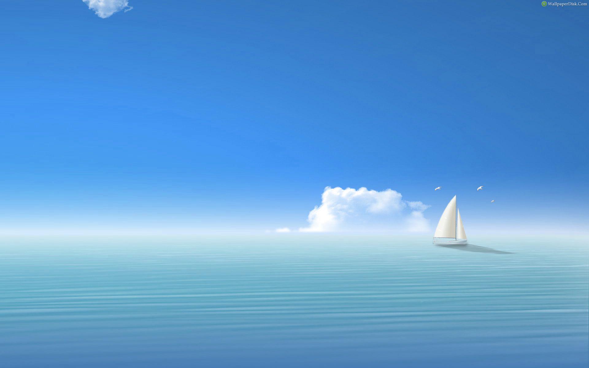 моря и яхта, корабль, парусник, скачать обои для рабочего стола, фото