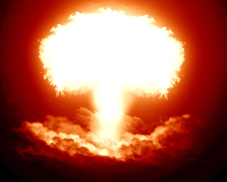 атомный взрыв, вспышка, грибок