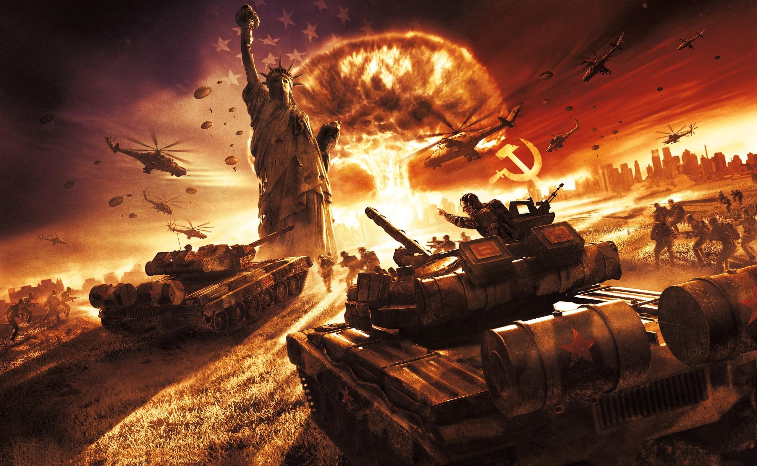 атомный взрыв, СССР, Америка, обои для рабочего стола