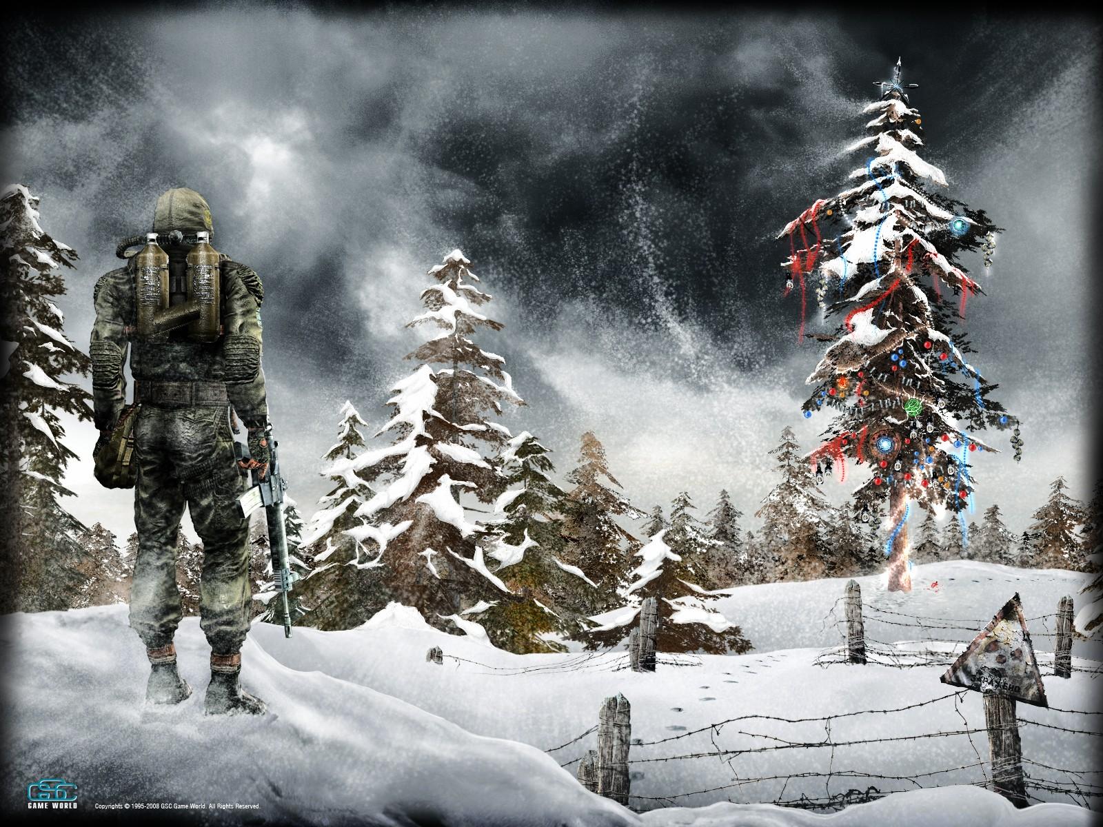 Радиационная зима, елки, фото, скачать
