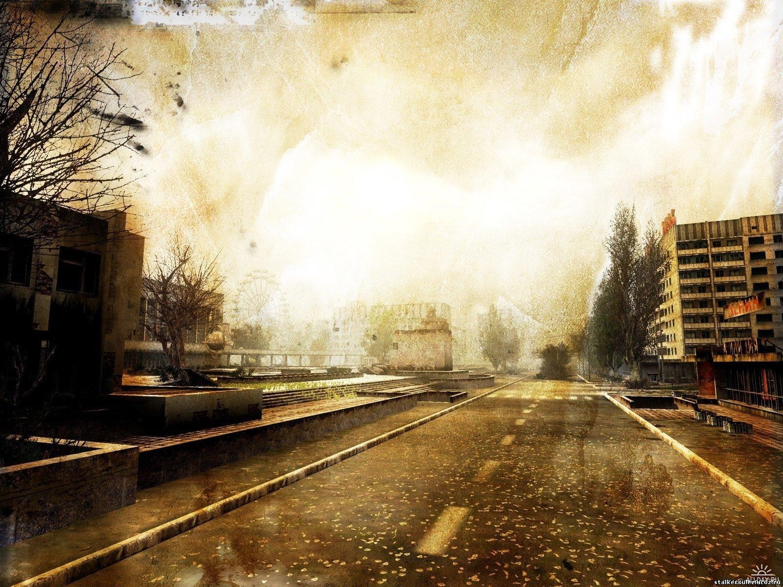 Дорога, припять, Чернобль, фото, скачать бесплатно