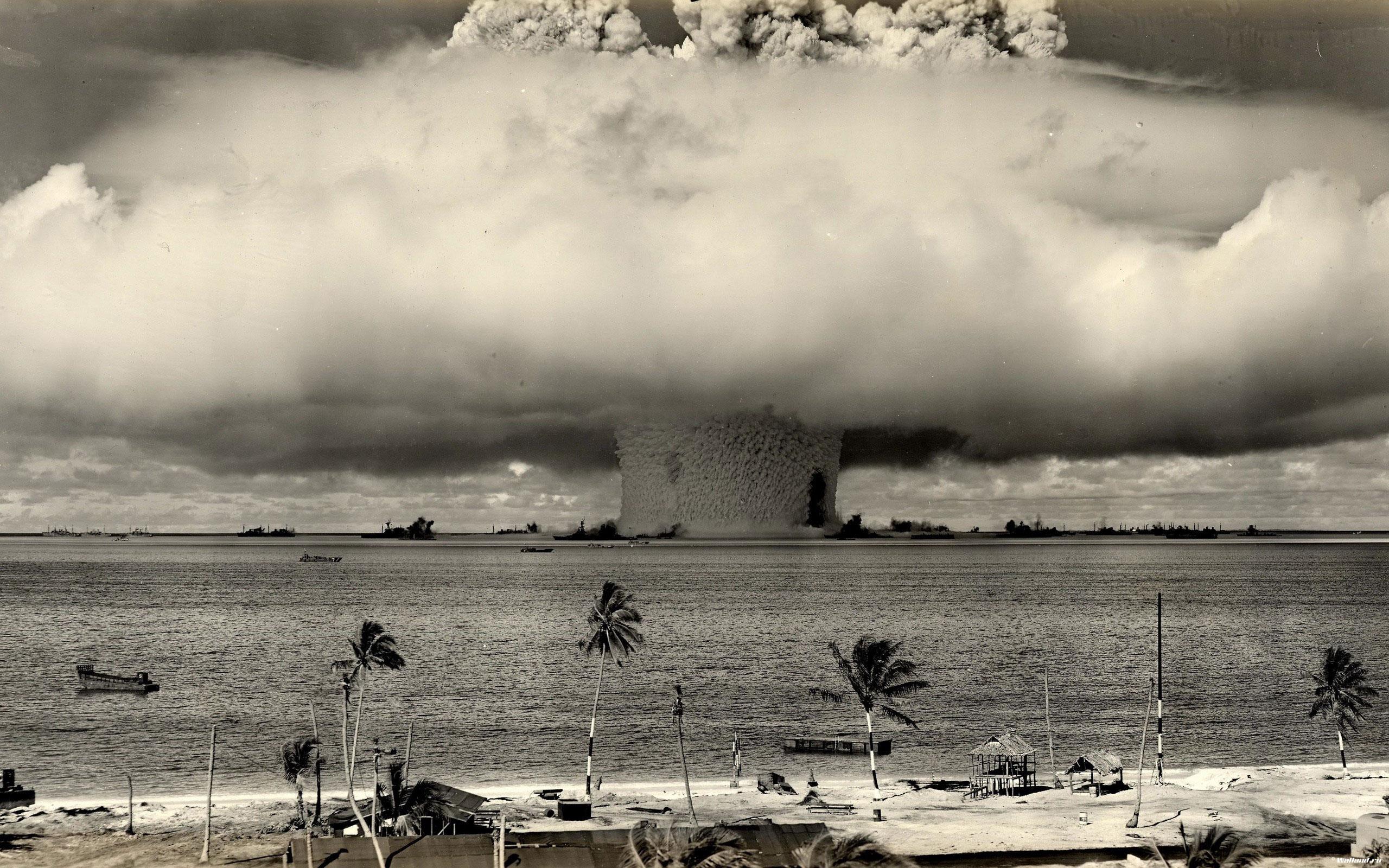 ядерный взрыв, взрывная волна, скачать фото, обои для рабочего стола