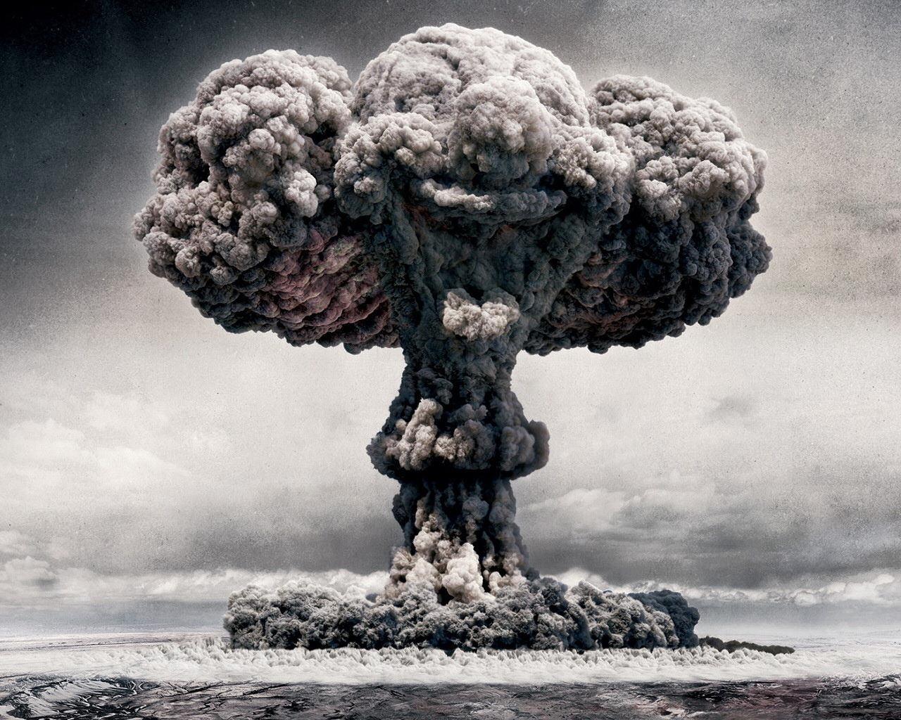 Атомный взрыв, ядерный взрыв, фото, скачать обои для рабочего стола