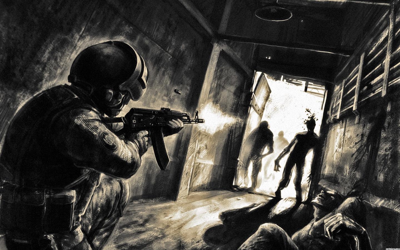 Зомби, сталкер, обои для рабочего стола, скачать, wallpaper, Stalker