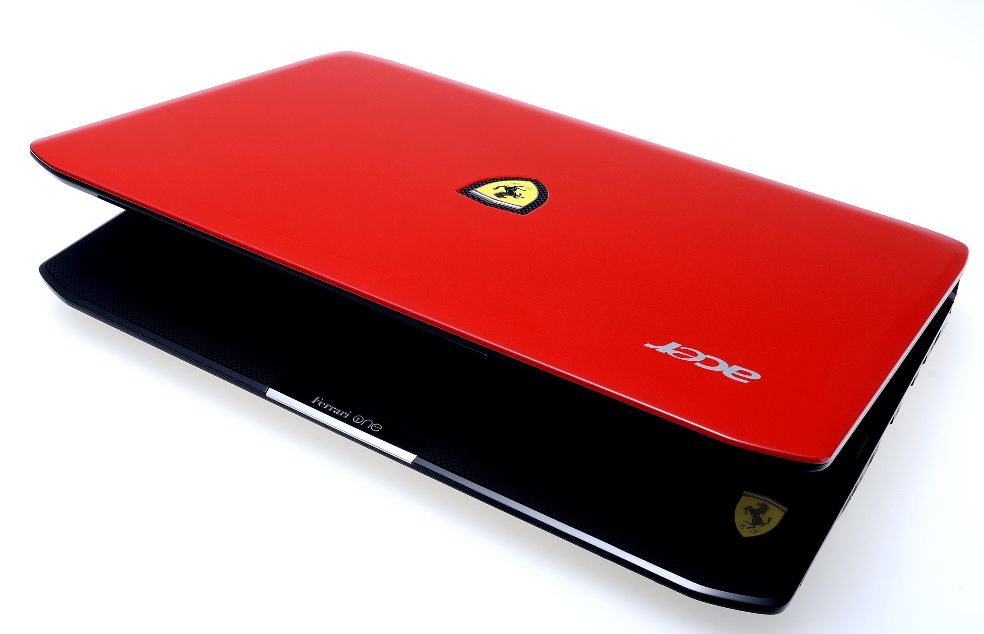 красный ноутбук, ferrari, фото, скачать