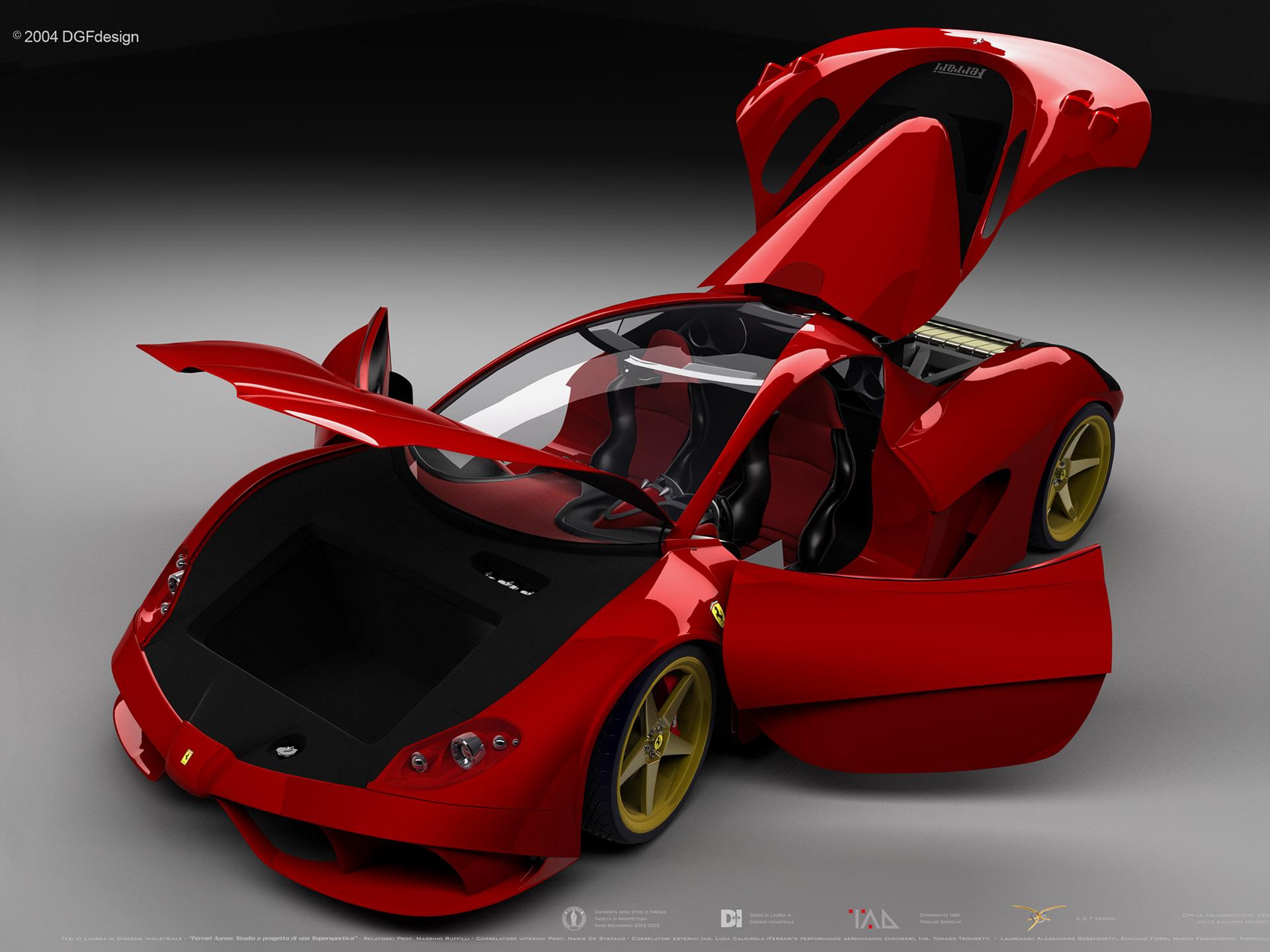 красная машина, ferrari с открытыми дверями, скачать, фото