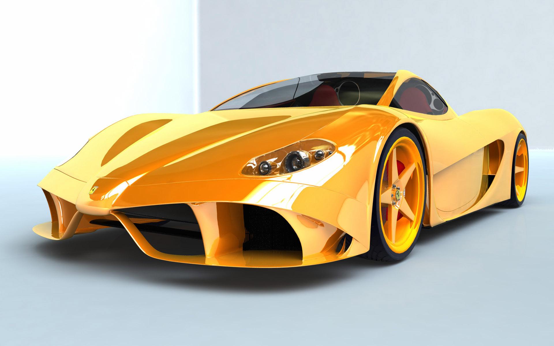 yellow car, желтая машина феррари, скачать фото, обои для рабочего стола