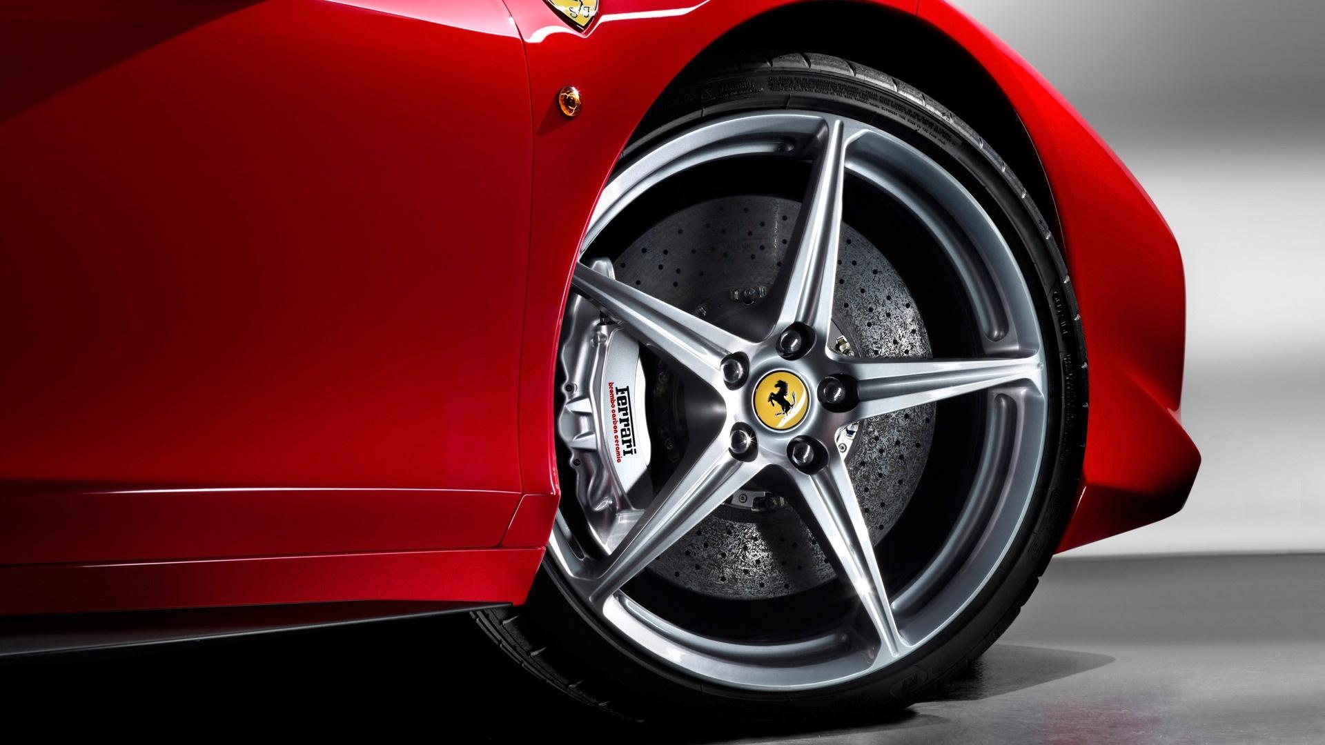 колесо, красная машина, скачать фото, ferrari, wallpaper