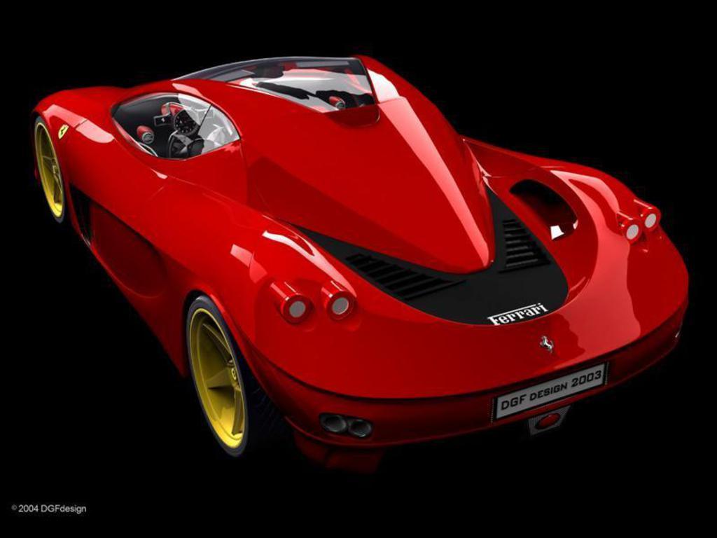 Ferrari, red car, красная машина ферари, скачать фото