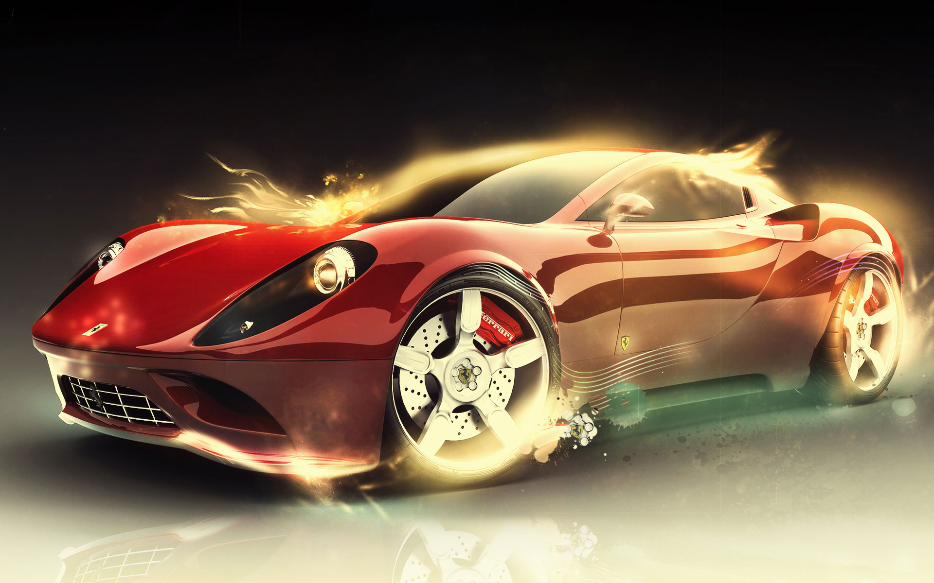 Ferrari, car, wallpaper, fire, скачать фото