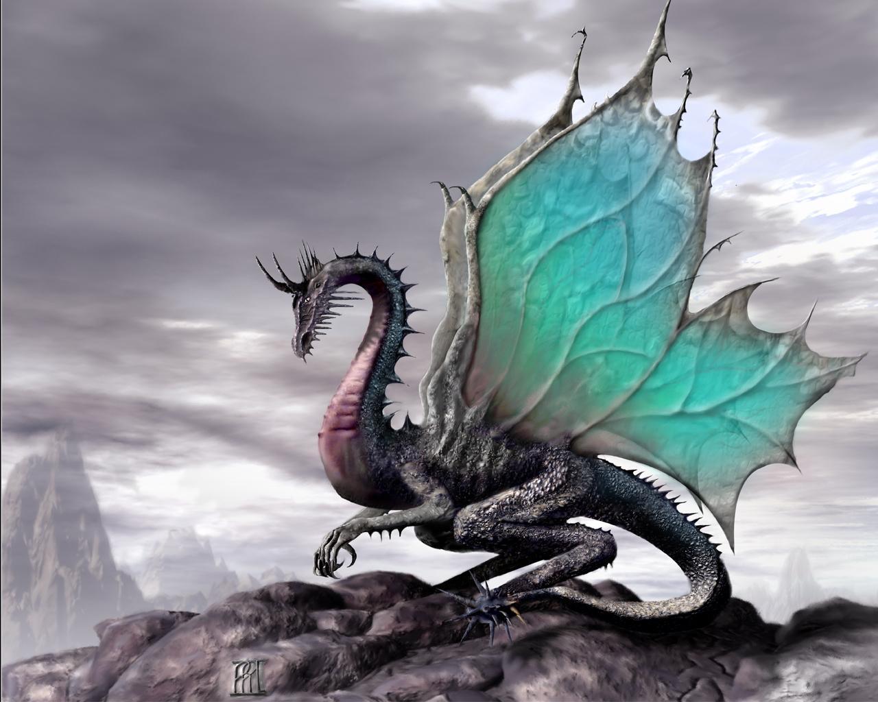 Большой дракон, фото, обои для рабочего стола, скачать бесплатно