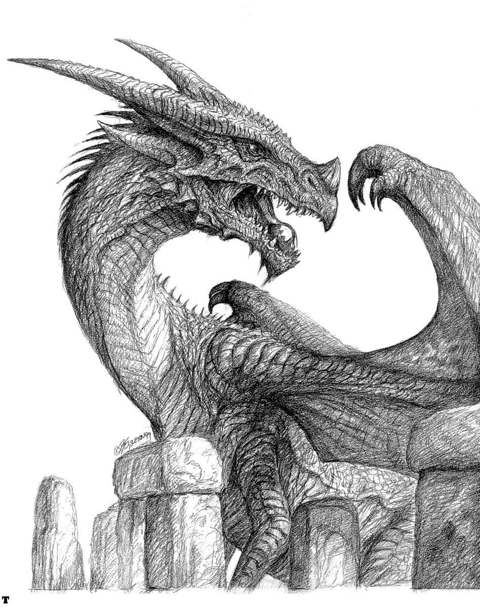 дракон, рисунок, фото, обои на рабочий стол