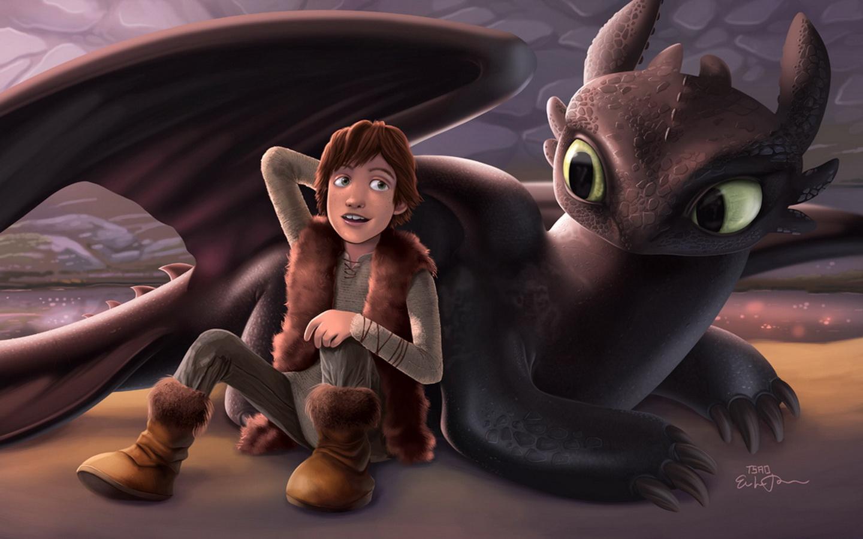 обои для рабочего стола, как приручить дракона, кадр из фильма