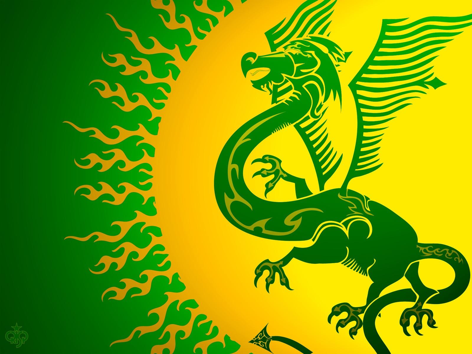 gree dragon wallpaper, зеленый дракон рисунок обои для рабочего стола