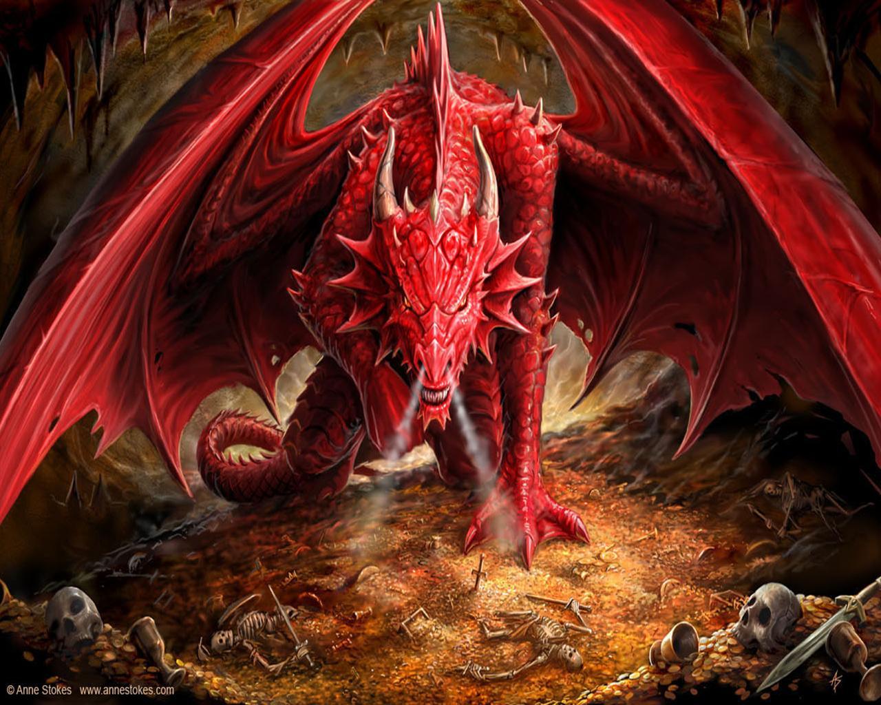 скачать фото, красный коралловый дракон, обои для рабочего стола