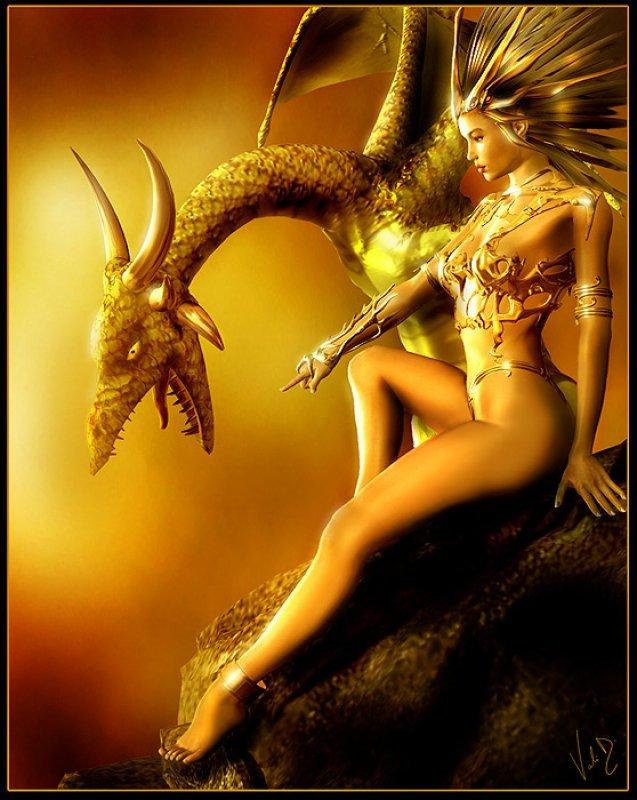 дракон и девушка, скачать обои для рабочего стола, бесплатно и без регистрации