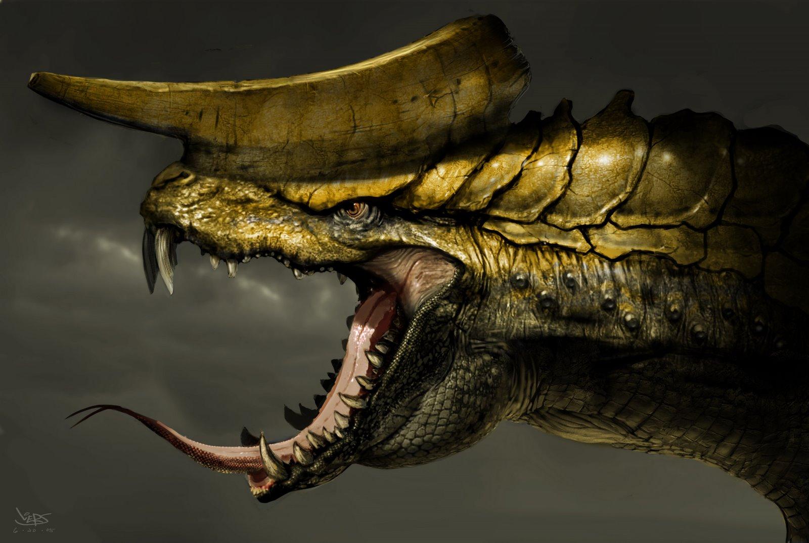 страшное чудовище, обои для рабочего стола, дракон, фото