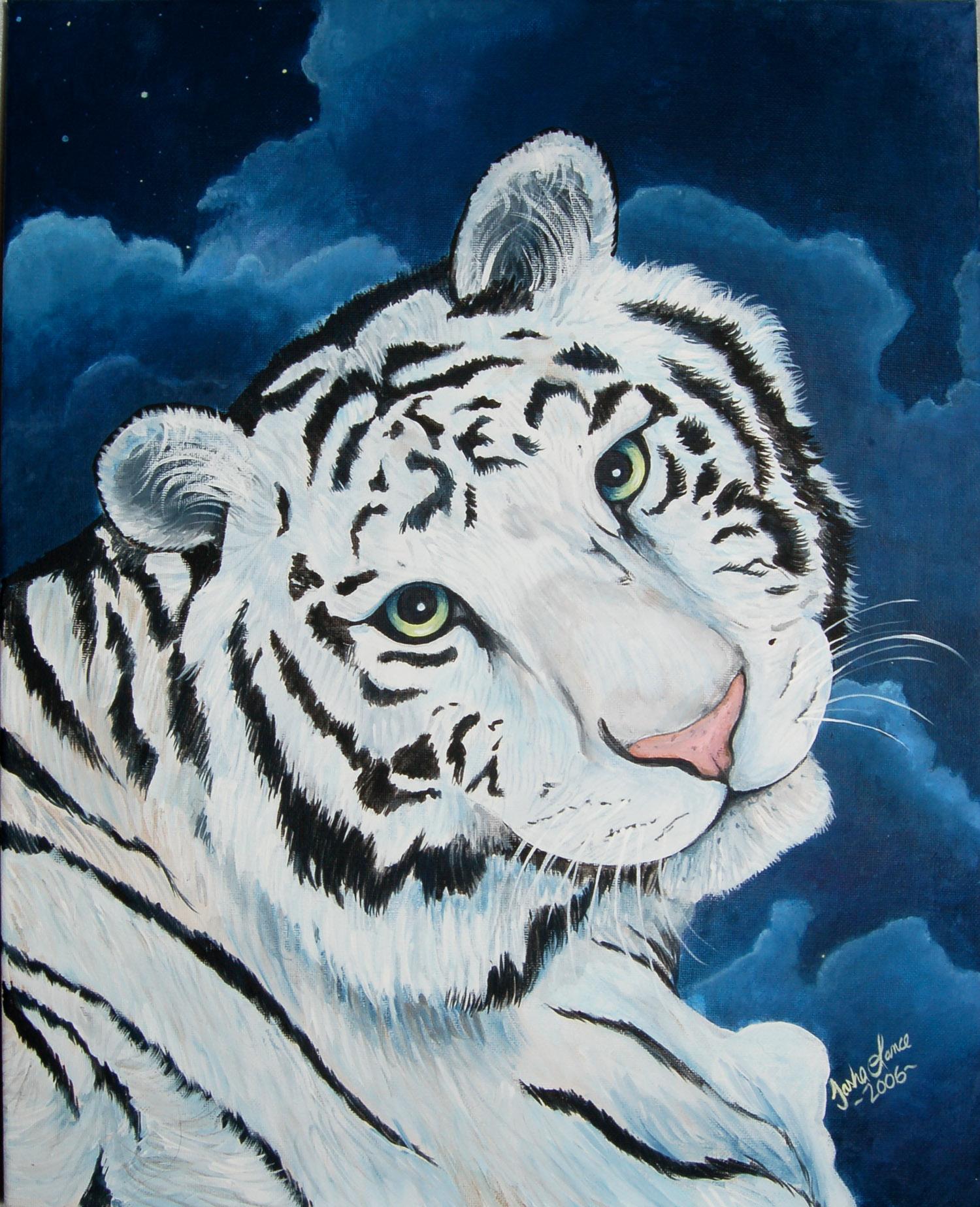 белый тигр, скачать фото, обои на рабочий стол