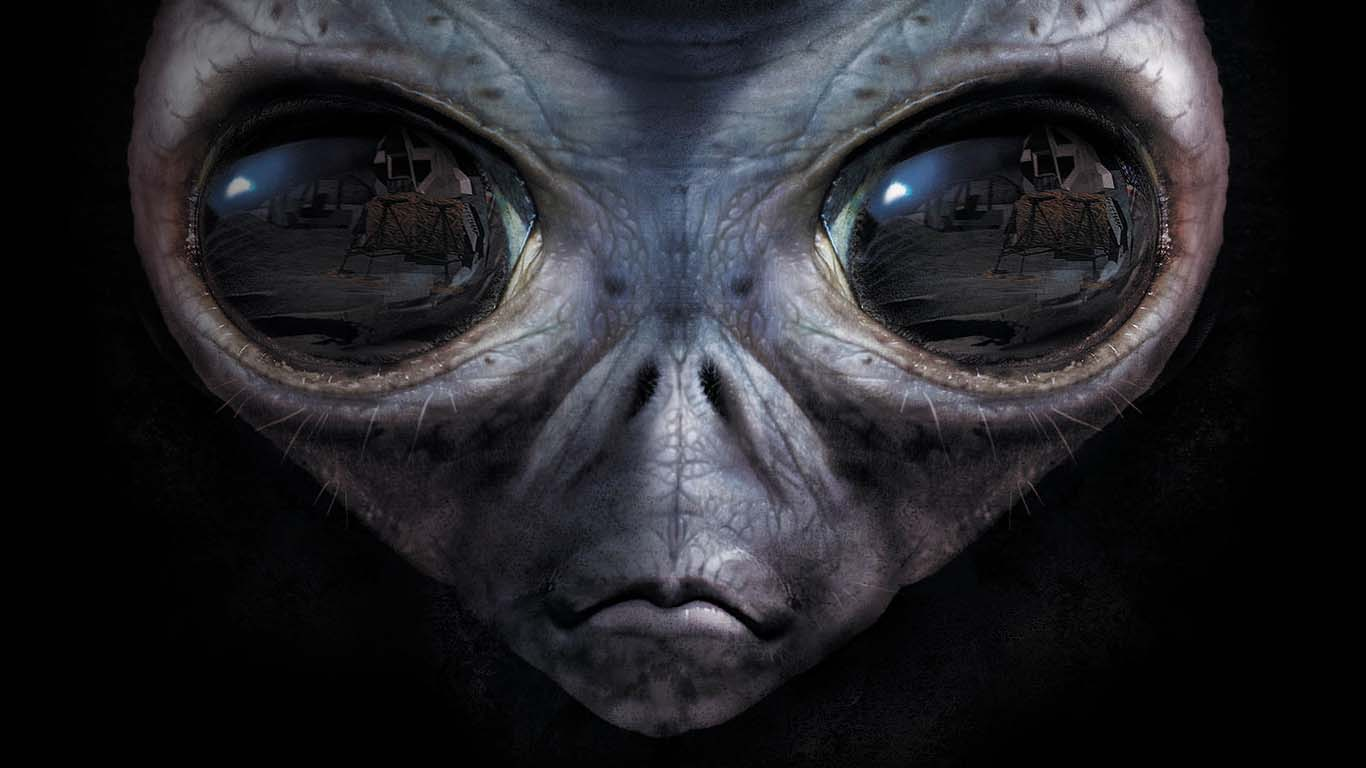 пришелец, большие глаза, инопланетянин, скачать фото, alien