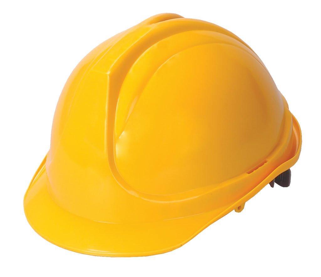 желтая строительная каска, фото, обои для рабочего стола