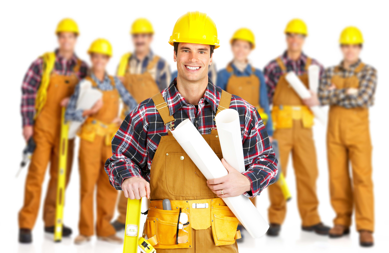 группа строителей в касках, скачать фото, обои для рабочего стола