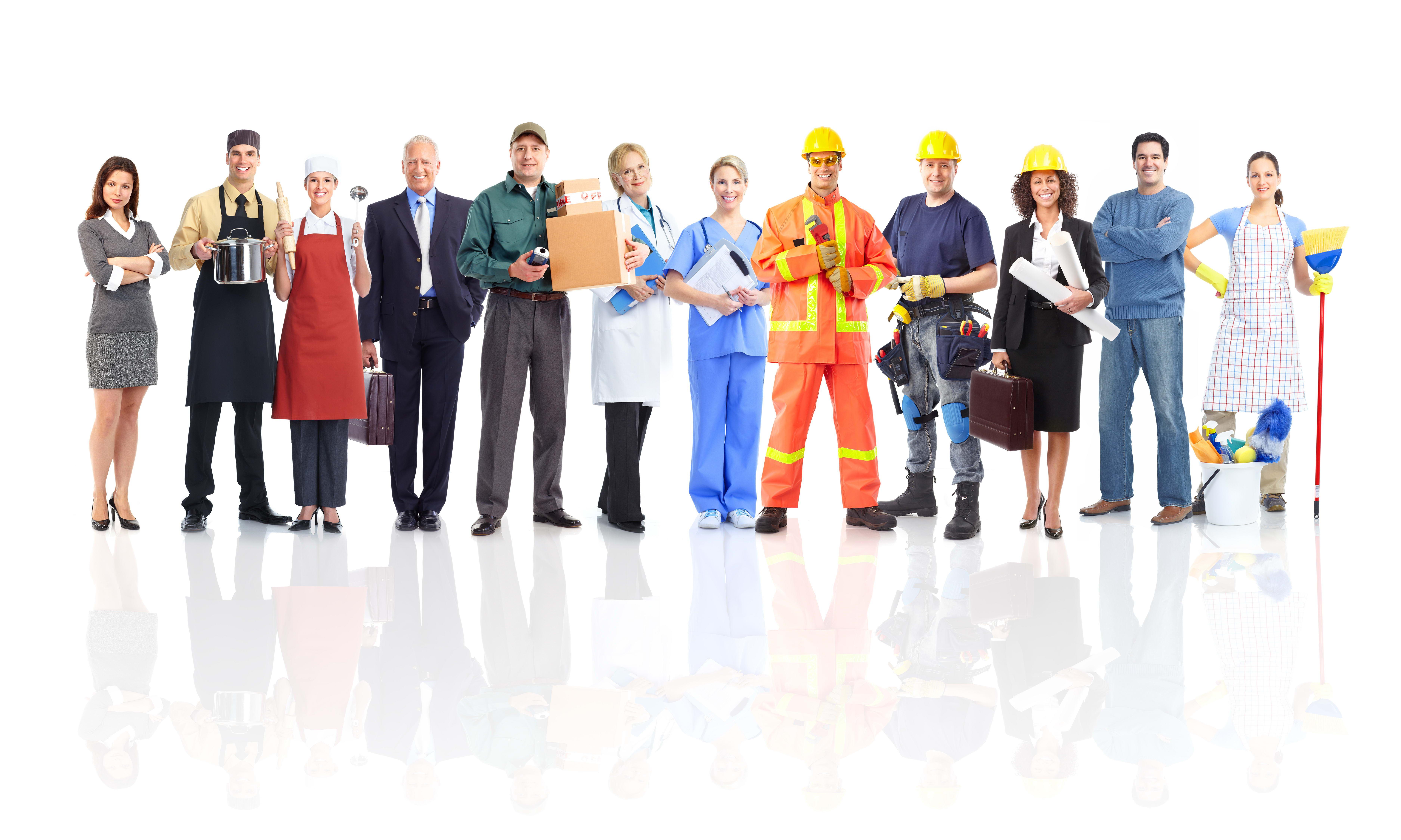 Люди разных профессий строители