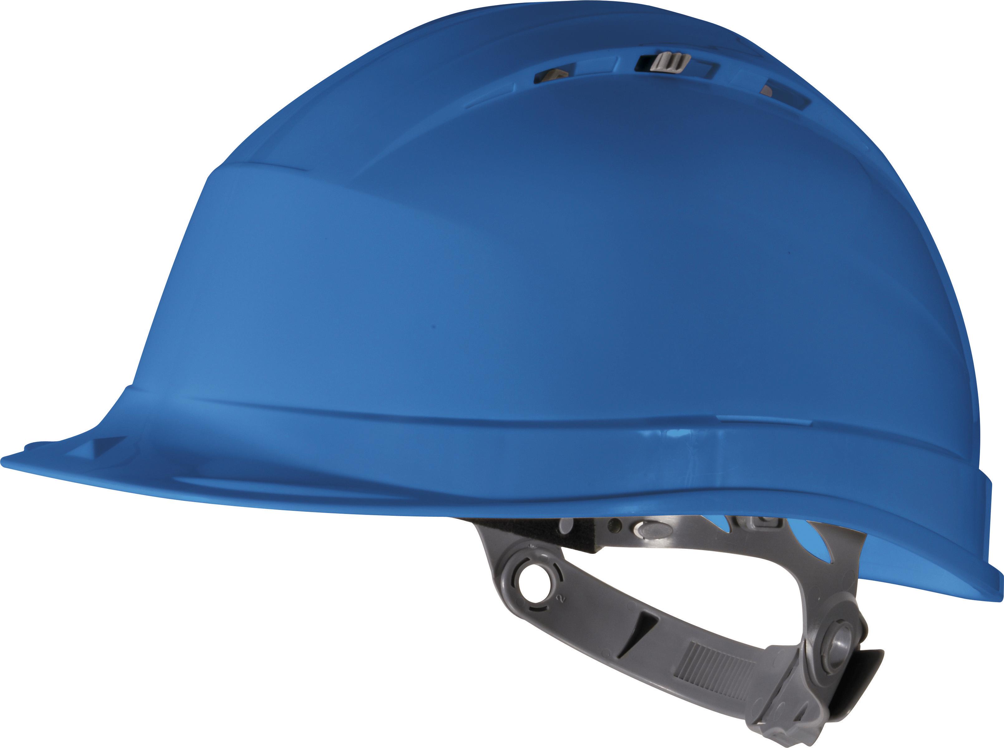 синяя строительная каска, фото, обои для рабочего стола, скачать