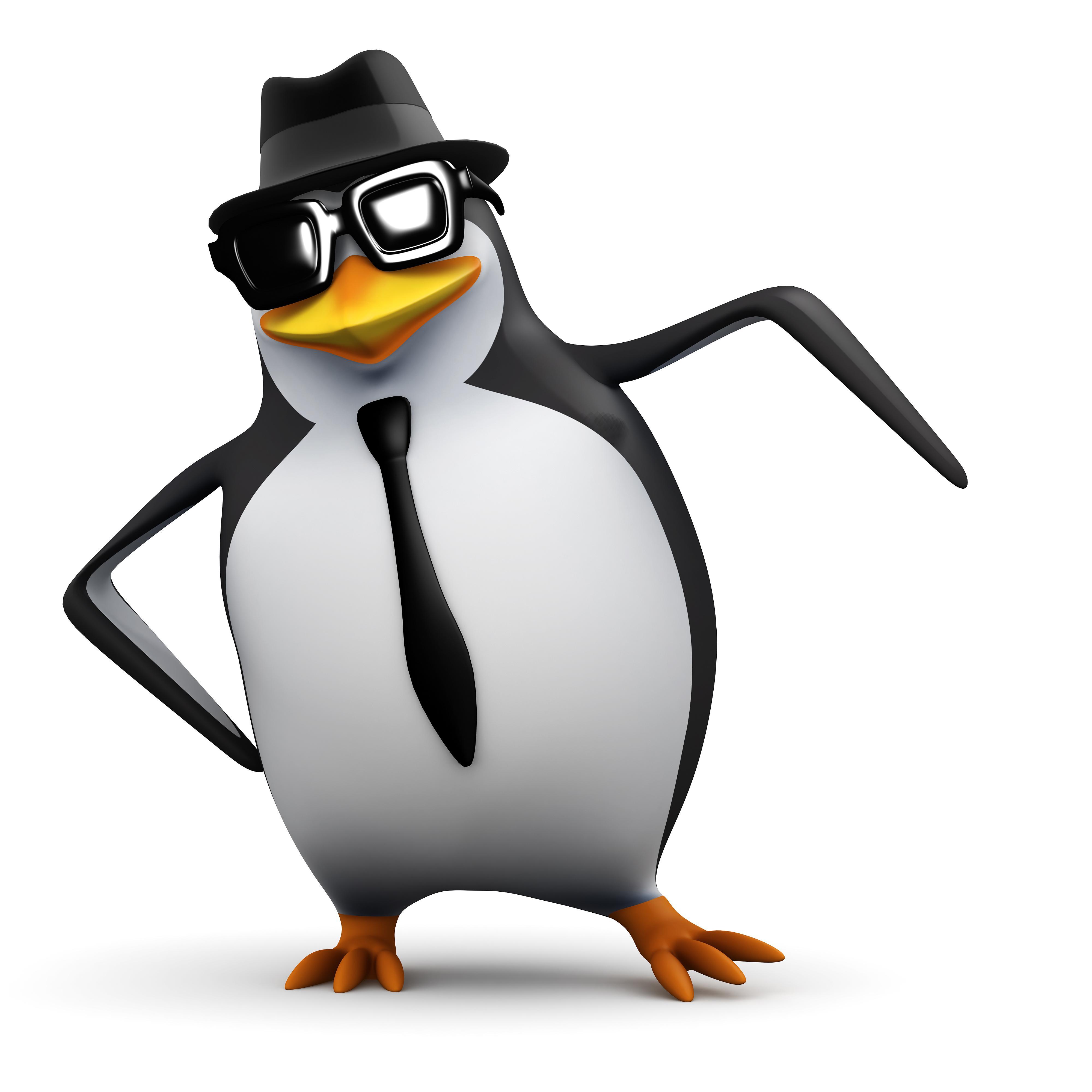 пингвин с галстуком в очкахе, фото, обои для рабочего стола, клипарт