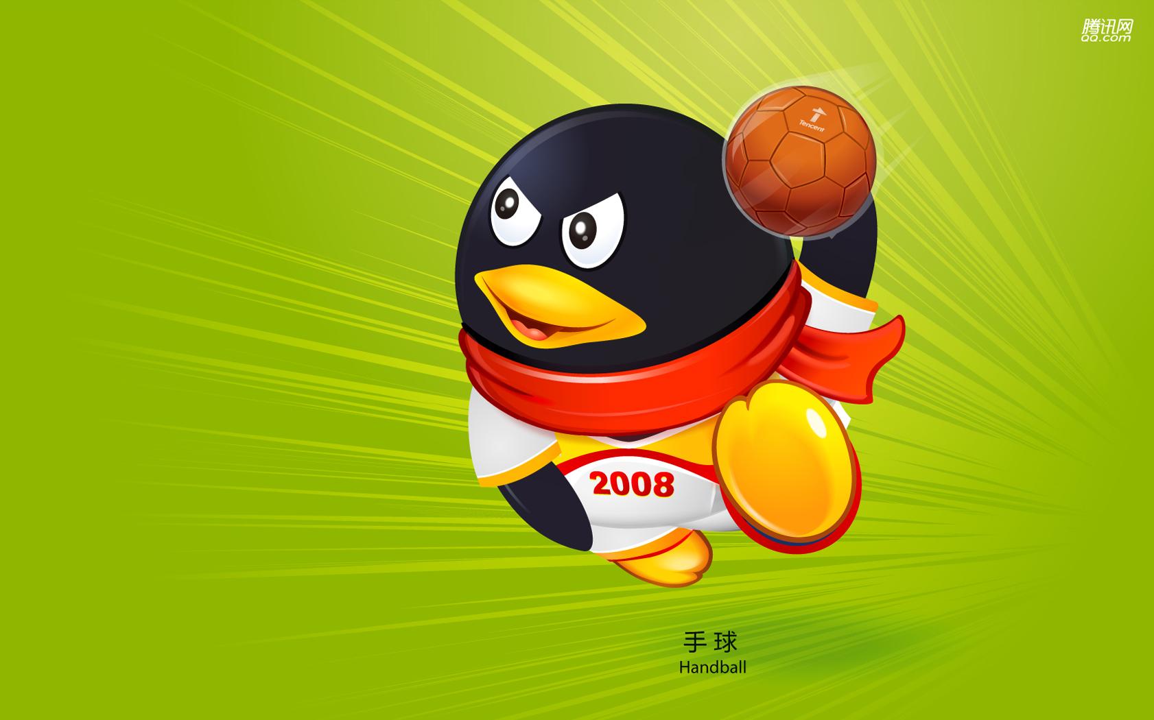 Пекин олимпиада 2008, символ, пингвин, гандбол, скачать фото, обои для рабочего стола