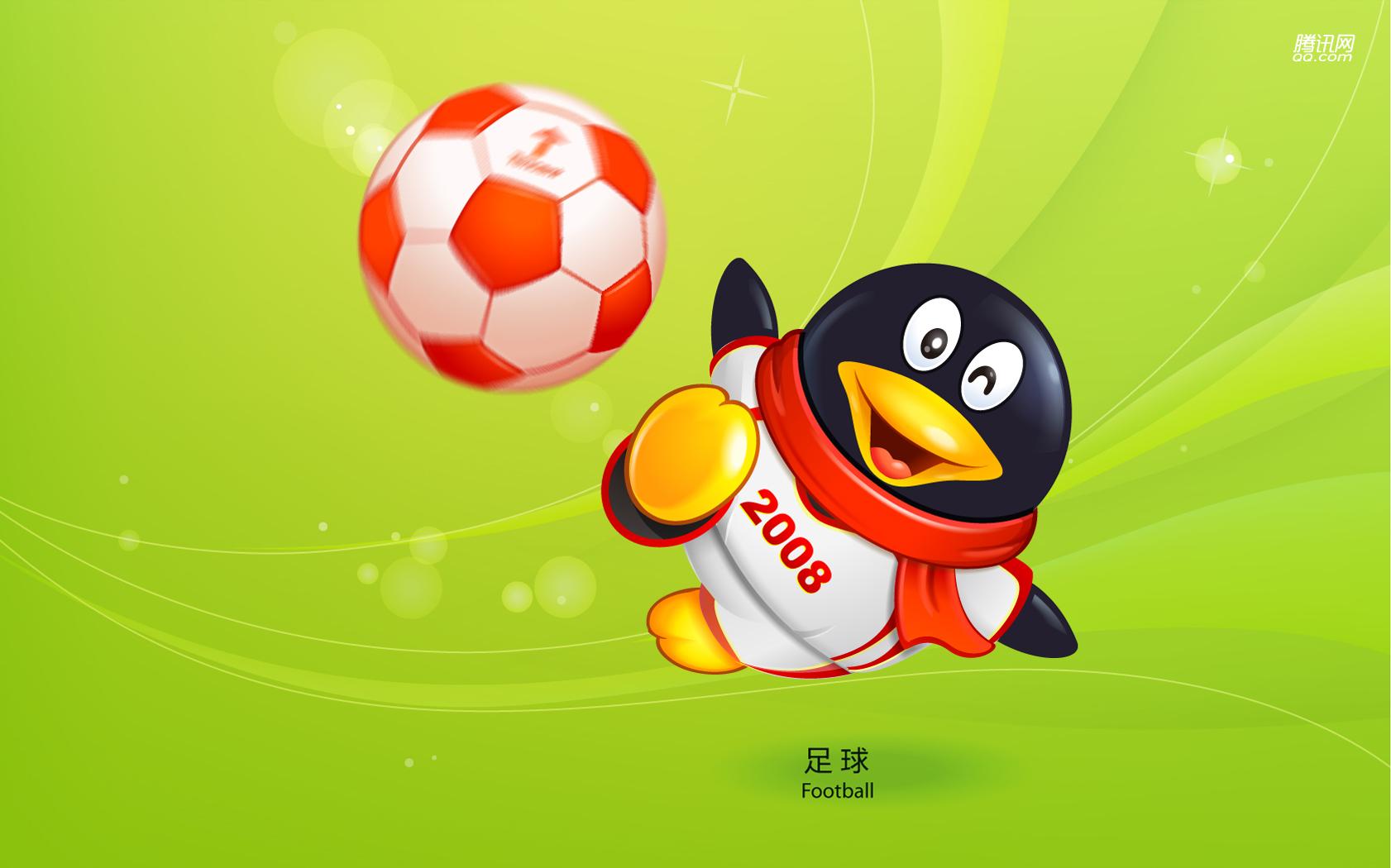 Пекин олимпиада 2008, символ, пингвин, футбол, скачать фото, обои для рабочего стола