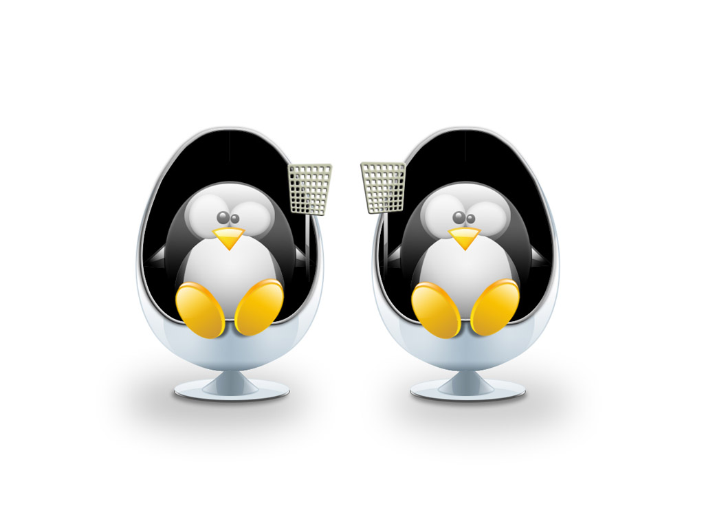 пингвины в креслах, фото, обои для рабочего стола