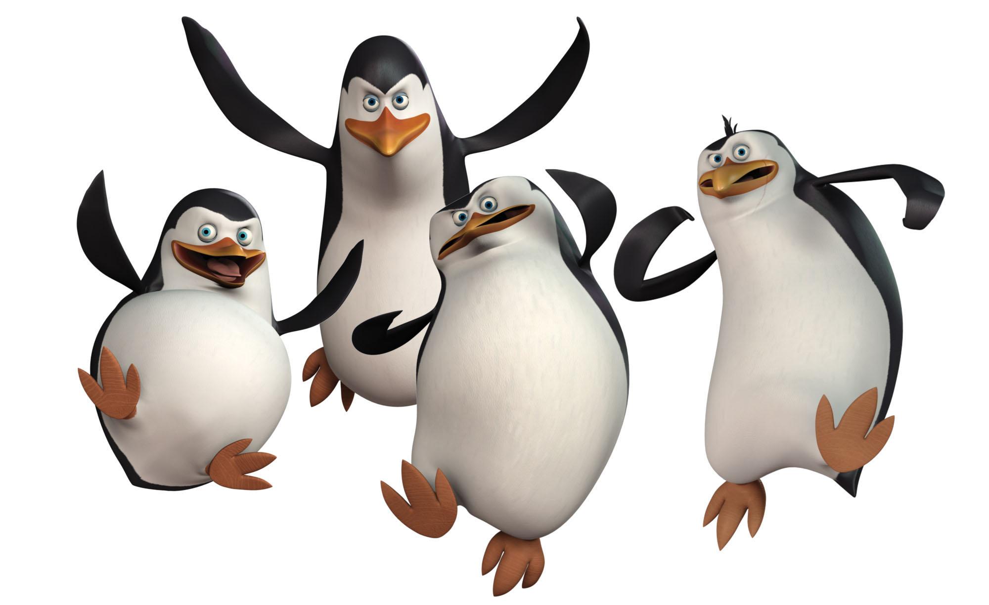 пингвины Мадагаскара, скачать фото, обои для рабочего стола
