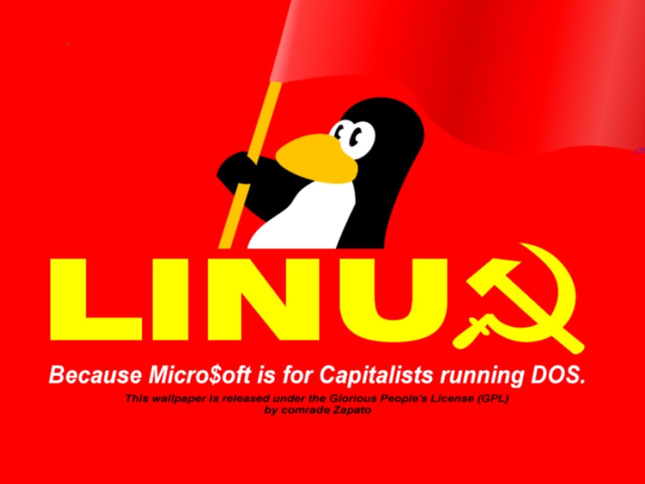 USSR LINUX Wallpaper, скачать фото, обои для рабочего стола, пингвин